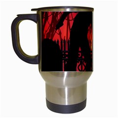Horror Zombie Ghosts Creepy Travel Mugs (white) by Amaryn4rt