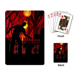 Horror Zombie Ghosts Creepy Playing Card by Amaryn4rt