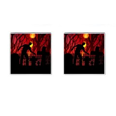 Horror Zombie Ghosts Creepy Cufflinks (square) by Amaryn4rt