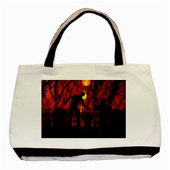 Horror Zombie Ghosts Creepy Basic Tote Bag (two Sides) by Amaryn4rt
