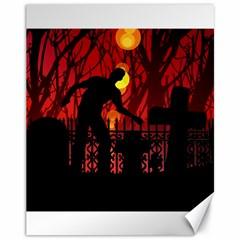 Horror Zombie Ghosts Creepy Canvas 11  X 14   by Amaryn4rt