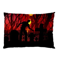 Horror Zombie Ghosts Creepy Pillow Case by Amaryn4rt