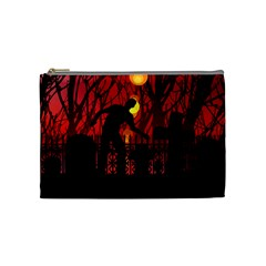 Horror Zombie Ghosts Creepy Cosmetic Bag (medium)