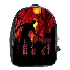 Horror Zombie Ghosts Creepy School Bags(large)  by Amaryn4rt