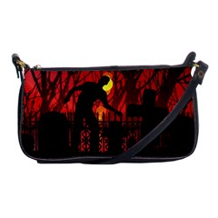 Horror Zombie Ghosts Creepy Shoulder Clutch Bags by Amaryn4rt