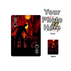 Horror Zombie Ghosts Creepy Playing Cards 54 (mini)  by Amaryn4rt