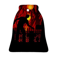Horror Zombie Ghosts Creepy Bell Ornament (2 Sides) by Amaryn4rt
