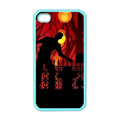 Horror Zombie Ghosts Creepy Apple Iphone 4 Case (color) by Amaryn4rt