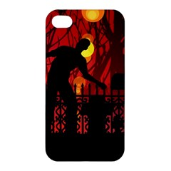 Horror Zombie Ghosts Creepy Apple Iphone 4/4s Hardshell Case by Amaryn4rt