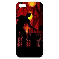 Horror Zombie Ghosts Creepy Apple Iphone 5 Hardshell Case by Amaryn4rt