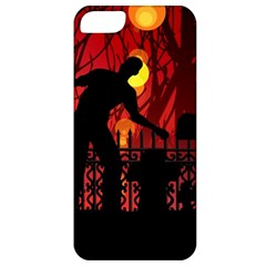 Horror Zombie Ghosts Creepy Apple Iphone 5 Classic Hardshell Case by Amaryn4rt