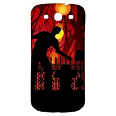 Horror Zombie Ghosts Creepy Samsung Galaxy S3 S Iii Classic Hardshell Back Case by Amaryn4rt