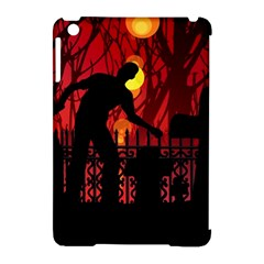 Horror Zombie Ghosts Creepy Apple Ipad Mini Hardshell Case (compatible With Smart Cover) by Amaryn4rt
