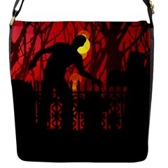 Horror Zombie Ghosts Creepy Flap Messenger Bag (s) by Amaryn4rt