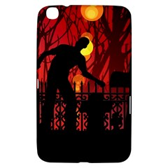 Horror Zombie Ghosts Creepy Samsung Galaxy Tab 3 (8 ) T3100 Hardshell Case  by Amaryn4rt