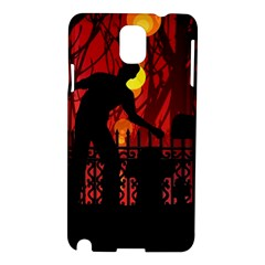 Horror Zombie Ghosts Creepy Samsung Galaxy Note 3 N9005 Hardshell Case by Amaryn4rt