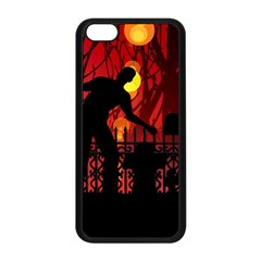 Horror Zombie Ghosts Creepy Apple Iphone 5c Seamless Case (black) by Amaryn4rt