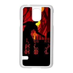 Horror Zombie Ghosts Creepy Samsung Galaxy S5 Case (white) by Amaryn4rt