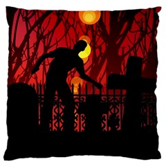 Horror Zombie Ghosts Creepy Standard Flano Cushion Case (two Sides) by Amaryn4rt