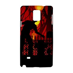 Horror Zombie Ghosts Creepy Samsung Galaxy Note 4 Hardshell Case by Amaryn4rt