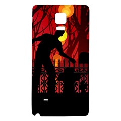 Horror Zombie Ghosts Creepy Galaxy Note 4 Back Case by Amaryn4rt