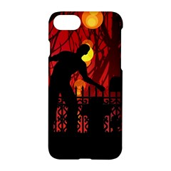 Horror Zombie Ghosts Creepy Apple Iphone 7 Hardshell Case by Amaryn4rt