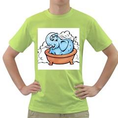 Elephant Bad Shower Green T Shirt