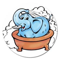 Elephant Bad Shower Magnet 5  (round)