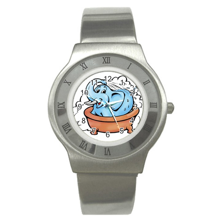 Elephant Bad Shower Stainless Steel Watch