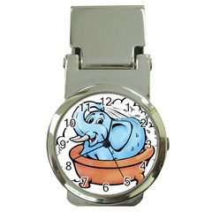 Elephant Bad Shower Money Clip Watches