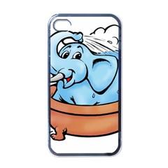 Elephant Bad Shower Apple Iphone 4 Case (black) by Amaryn4rt