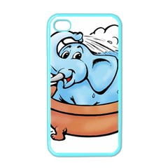 Elephant Bad Shower Apple Iphone 4 Case (color)