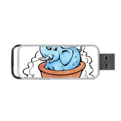Elephant Bad Shower Portable Usb Flash (two Sides) by Amaryn4rt