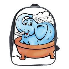 Elephant Bad Shower School Bags (xl)  by Amaryn4rt
