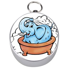 Elephant Bad Shower Silver Compasses
