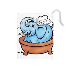 Elephant Bad Shower Drawstring Pouches (medium)
