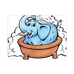 Elephant Bad Shower Double Sided Flano Blanket (mini)