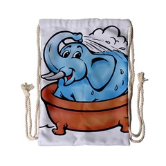 Elephant Bad Shower Drawstring Bag (small)