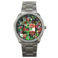Paper Background Color Graphics Sport Metal Watch by Amaryn4rt