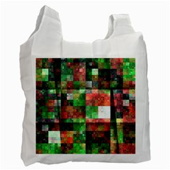 Paper Background Color Graphics Recycle Bag (one Side)