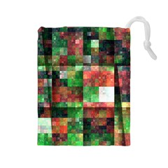 Paper Background Color Graphics Drawstring Pouches (large)