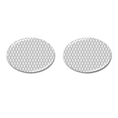 Round Black Cufflinks (oval)