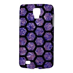 Hexagon2 Black Marble & Purple Marble (r) Samsung Galaxy S4 Active (i9295) Hardshell Case by trendistuff