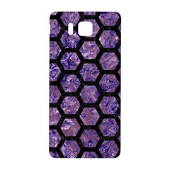 Hexagon2 Black Marble & Purple Marble (r) Samsung Galaxy Alpha Hardshell Back Case by trendistuff