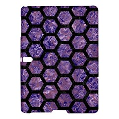 Hexagon2 Black Marble & Purple Marble (r) Samsung Galaxy Tab S (10 5 ) Hardshell Case  by trendistuff