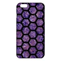 Hexagon2 Black Marble & Purple Marble (r) Iphone 6 Plus/6s Plus Tpu Case by trendistuff