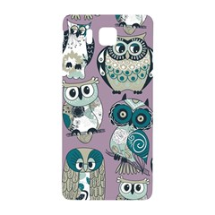 Seamless Owl Pattern Purple Samsung Galaxy Alpha Hardshell Back Case by AnjaniArt