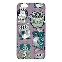 Seamless Owl Pattern Purple Iphone 6 Plus/6s Plus Tpu Case by AnjaniArt