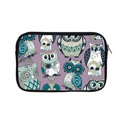 Seamless Owl Pattern Purple Apple Macbook Pro 13  Zipper Case
