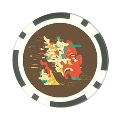 Shadow Advance Poker Chip Card Guards by AnjaniArt